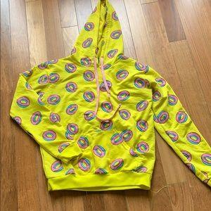 GUC donut yellow hoodie